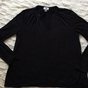 "Old Navy ""nwot"" vneck long sleeve black shirt SZ M"